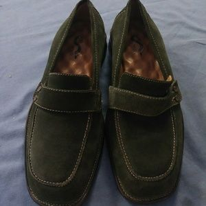 Soft Walk Women's Shoes green Suede Leather Loafer